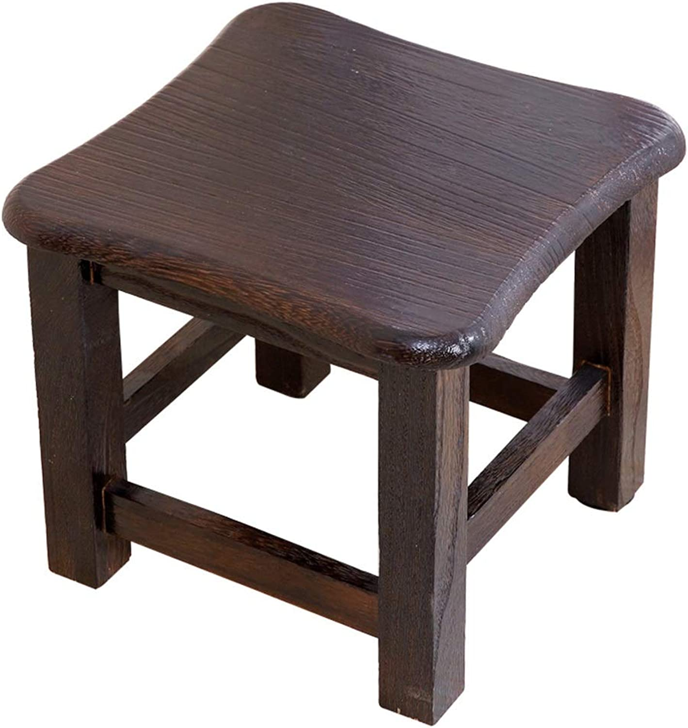 Solid Wood Stool Small Bench Change shoes Bench Living Room Coffee Table Stool Light and Strong (color   B)