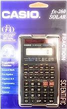 Casio FX-260 Solar Scientific Calculator School Version (Fraction Key is Not Operable)