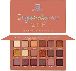 MAYCREATE® Eyeshadow Palette Professional Smokey Eye Shadows Nudes Highly Pigmented 18 Warm Chocolate Colors Matte Shimmer Neutral Eyeshadow Makeup Kits