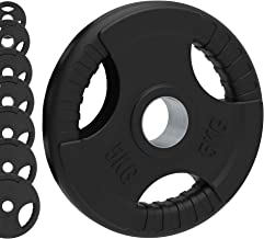 Lichaamsrevolutie Olympisch Gewicht Platen Rubber Gecoat Gietijzeren gewichten Set - Tri Grip Radiaal