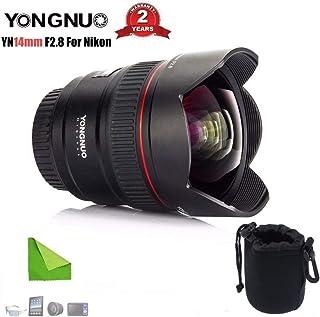 عدسة الكاميرا - عدسة برايم بزاوية واسعة للغاية YN14mm F2.8N Auto Focus Metal Mount لكاميرا Nikon D7100 D5300 D3200 D3100 D...