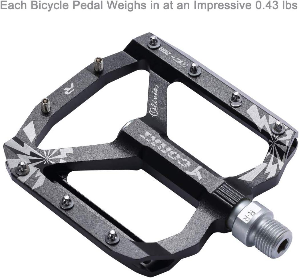 Wide Platform Pedals 9//16 corki Extra Large Mountain Bike Pedals Flat Aluminum Alloy MTB Pedals Black Red Purple