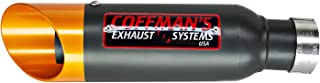 Coffman's Shorty Slip On Muffler Exhaust for Yamaha R6 (1999-2002) Sportbike with Gold Tip
