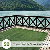 Indoor/Outdoor Turf Rugs and Runners in Green 12' X 8' Low Pile Artificial Grass in Many Custom...