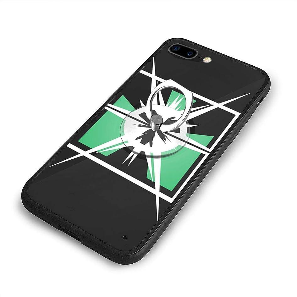 シンボル表向き電球Special Forces Rainbow Six Rainbow SixiPhone 7/8 Plusケースリングブラケット 携帯カバー 創意デザイン軽量 傷つけ防止 360°回転ブラケット 携帯ケース PC 衝撃防止 全面保護