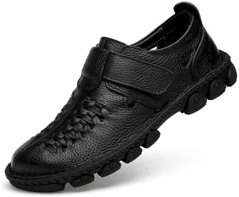 Willsego Frühling Sommer Erbsen Schuhe Leder England Herren Freizeitschuhe (Farbe   Schwarz, Gre   41 EU)