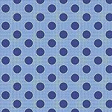 Tilda Permanent: Medium Dots: Denim Blau: Meterware