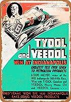 1934インディアナポリス500のタイドルガスとヴィードルオイルティンサイン