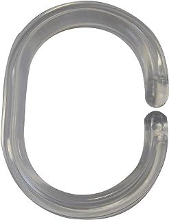 RIDDER 49400-0 Anneaux pour Rideaux Transparente, 12 pièces, Cristal