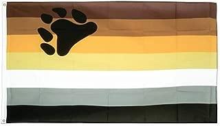Jasper Merchandise Bear Pride Flag 3 x 5 Feet (36 x 60 Inches) Pride LGBT Polyester Two Metal Grommets Flagpole