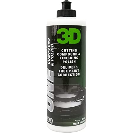 3D One - Car Scratch & Swirl Remover - Rubbing Compound & Finishing Polish - True Car Paint Correction 16oz.