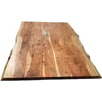 Tischplatte 160x85 Cm Akazie Natur Baumkante Wie Gewachsen Amazon De Kuche Haushalt