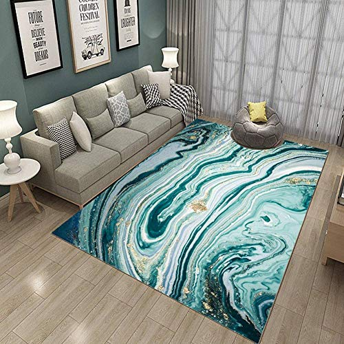 Zuoyun Alfombra Diseño Extra Grandes Moderno Pelo Corto Funky Area Carpet Ondas...