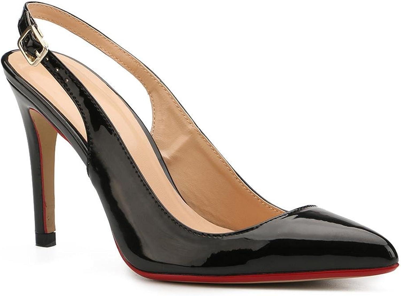 L@YC Damen Damen Damen Sandalen Komfort PU Sommer Outdoor Komfort Stöckelabsatz Schwarz  db0c24