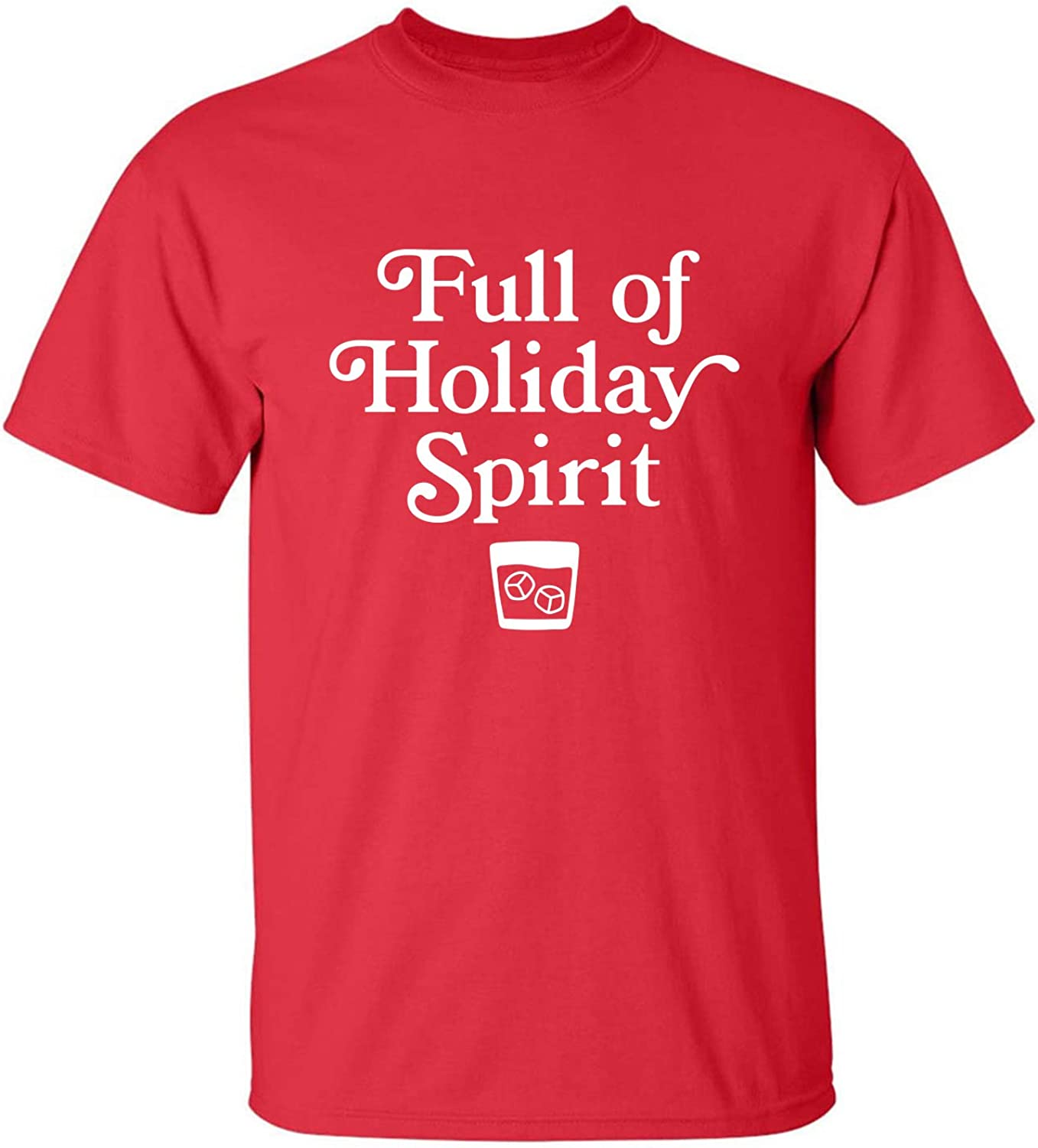 Full of Holiday Spirit Adult T-Shirt in Red - XXX-Large