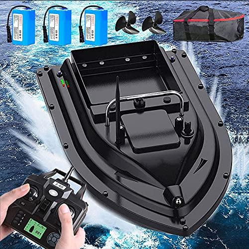 DBMGB Barco de Cebo de Pesca Inteligente, Barco Cebador Pesca con GPS, Barco Cebador Carpfishing para Ríos, Lagos y Piscinas, Carga 2kg, Control Remoto 500m, Crucero de una Sola Tecla