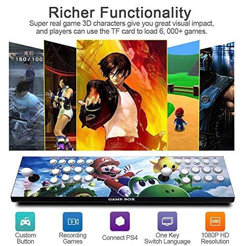 3D Home Arcade Konsole, 2 Spieler, 1280 * 720 Full HD Multiplayer Arcade Joystick Spiele Game, 2448 Spiele All in 1 Double Stick Buttons Power HDMI, Model ZQYR-05