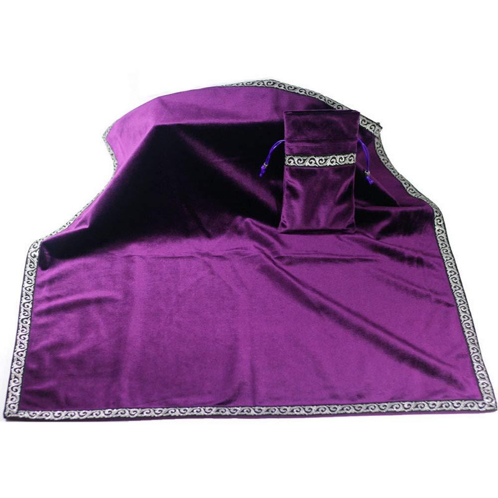 Retro Mantel Altar Tarot Tarjetas Bolsa de fiesta Juego de mesa Adivinación de terciopelo Tapicería Vintage Retro Manteles (26 * 26 INCH) Purple: Amazon.es: Hogar