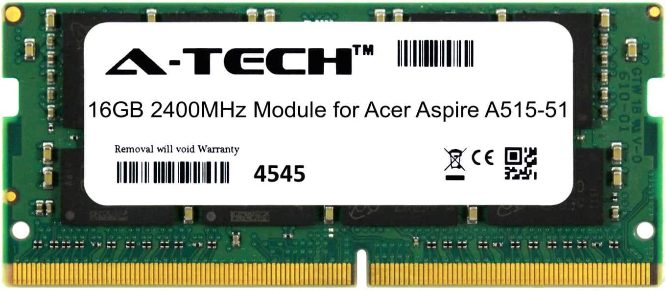 low-pricing A-Tech 16GB Module Selling and selling for Acer Laptop A515-51 Aspire Com Notebook