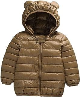 Happy childhood Infant Toddler Boys Girls Down Cotton Winter Ears Hoodie Coats Windproof Lightweight Warm Jacket