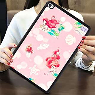 DISNEY COLLECTION Case for iPad 6 Pink Mermaid Wallpaper Lightweight Cartoon Cute TPU Shockproof Defender Protective Cover