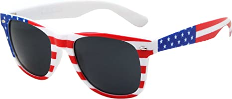 10 PackKids Toddler to Child American Flag Sunglasses USA Glasses US Age 3-10