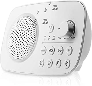 Teepao SP1803 Portable White Noise Machine, 8 Relaxing Soothing Nature Sounds, 1800mAh Battery Powered, Timer Sleep Sound Therapy for Home,office,Travel and Baby (Renewed)