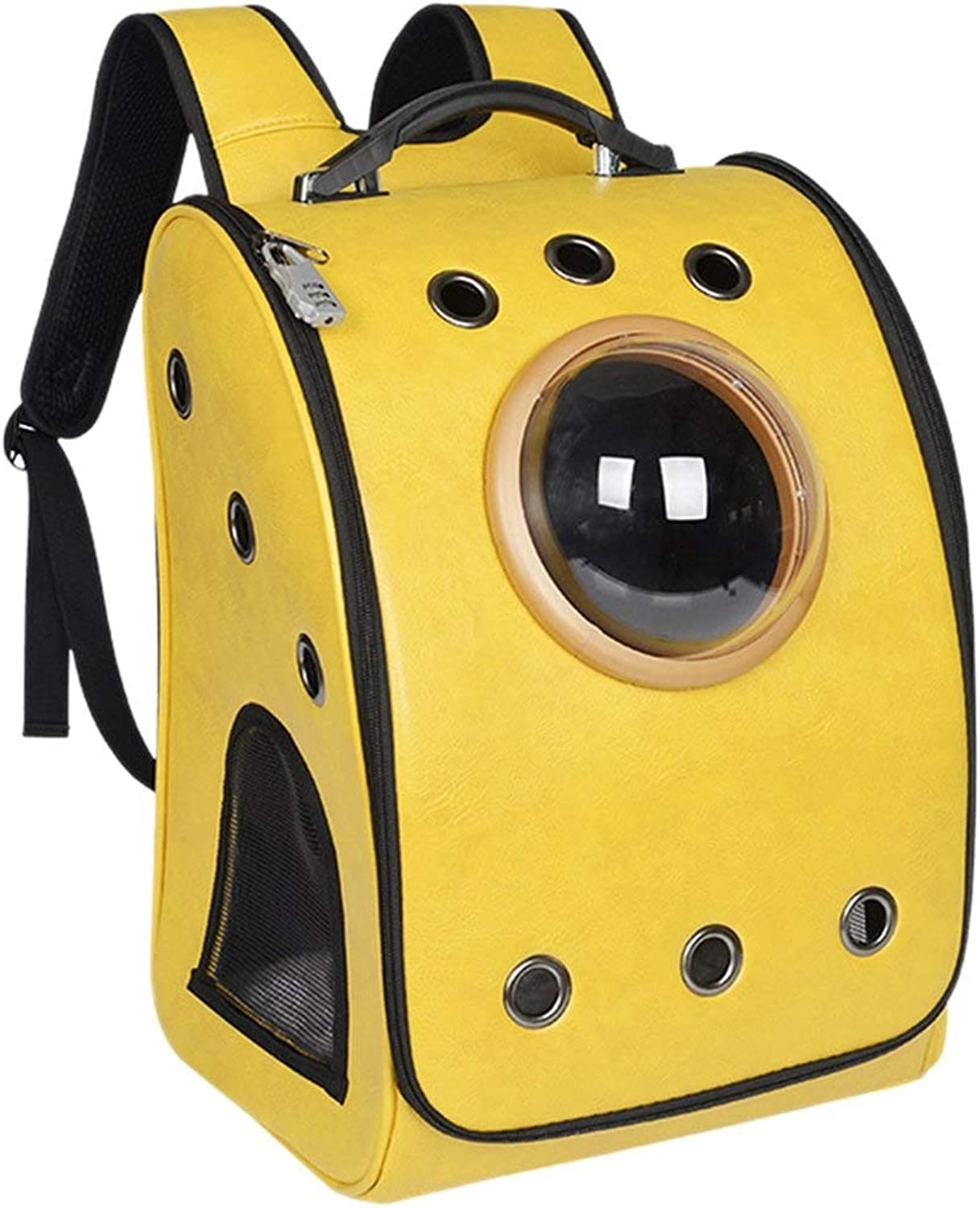 Anap Pet Carrier Space Capsule Backpack, Bubble Window Lightweight Padded Traveler for Cats, Dogs, Small Animals w Breathable Air Holes
