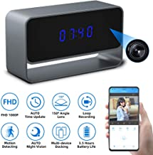 $79 » Spy Camera Clock, Monja Hidden Camera Clock, 1080p WiFi Cameras for Home, 150° Angle Nanny Cam, 24FT Auto IR Night Vision, Monitoring Detection, Loop Recording for Indoor Home Security