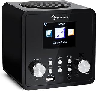 auna IR-120 - internetradio, digitale radio, WLAN-radio, USB- en AUX-aansluiting, wekker, sleeptimer, weerdisplay, afstand...