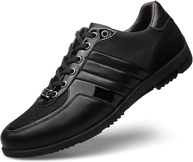 Schuhe Schwarz Brand 45 Men Casual 8 Genuine Leather nk0wOP