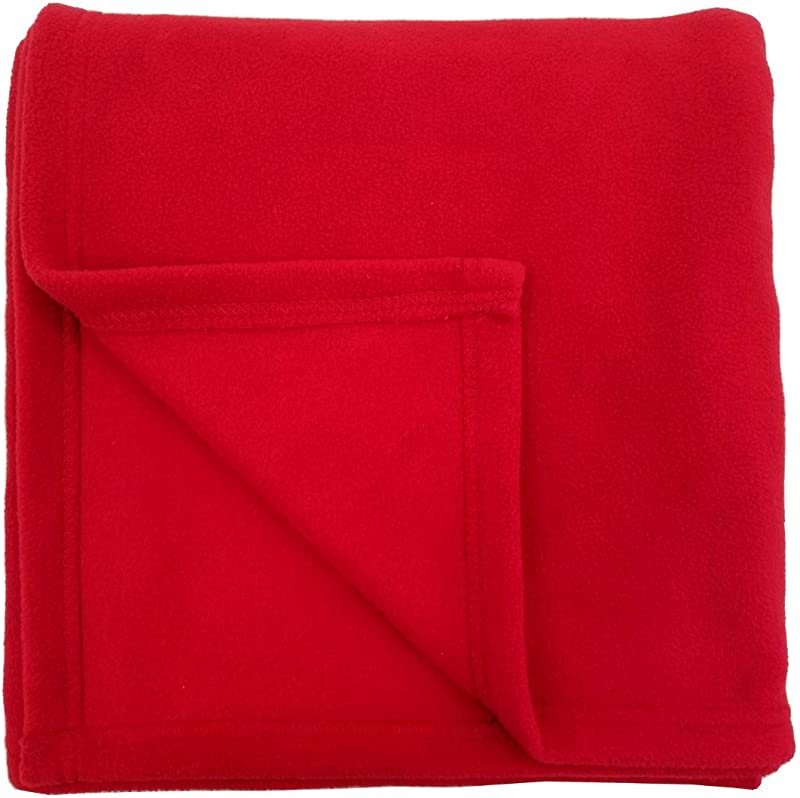 ROLLEE POLLEE Children S Nap Blanket ONLY NO Pillow Super Soft Anti Pill Fleece Blanket For Toddlers And Kids 36 X 48 Red