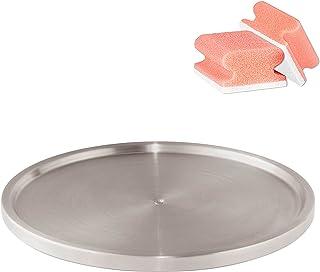 Wenko Tourniquet à épices, Plateau tournant Placard Cuisine, INOX, Diam. 26,5 cm