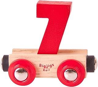 Bigjigs Rail Rail Name Number 7 (Colors Vary)