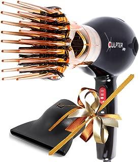 Xculpter Xity Seche Cheveux Diffuseur Brosse Lissante Professionnel Compact Ionique