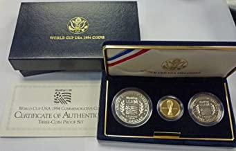 1994 Various Mint Marks World Cup USA 1994 Commemorative Coins Proof