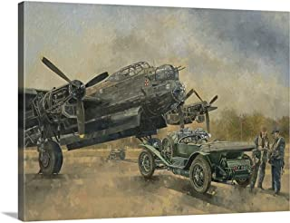 GREATBIGCANVAS Gallery-Wrapped Canvas A Lancaster and a Bentley, 2000 by Peter Miller 24