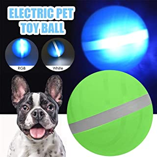 Volwco USB Electric Pet Ball, LED Rolling Flash Ball for Pet-Pet Magic Roller Ball Toy Interactive Pet Toys for Puppy Cats Dogs LED Rolling Flash Ball Fun Toy