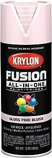 Krylon K02717007 Fusion All-in-One Spray Paint, Pink Blush