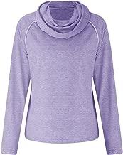 AOJIAN Women Hoodie Long Sleeve Hooded Autumn Turtleneck Solid Casual Sweatshirt Pullover