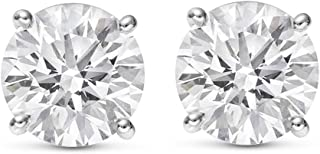 3 carat total weight diamond earrings