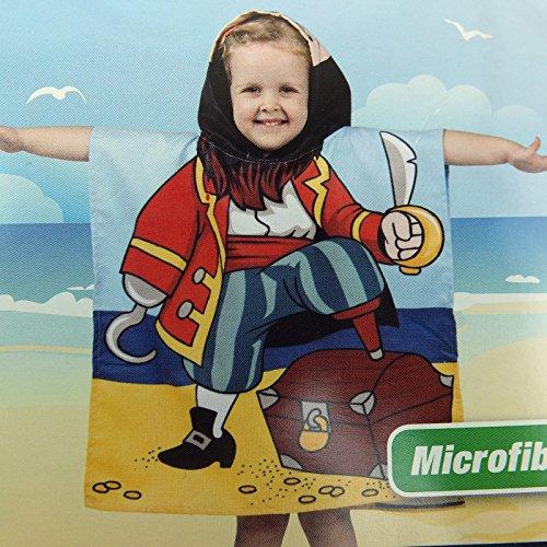 Gadget Zone UK® Kinder Badeponcho/Handtücher mit Kapuze. Wunderschöne Designs – ideal von Strand bis zum Baden. Nicht verblassen, weich, saugfähig und atmungsaktiv. Pirat