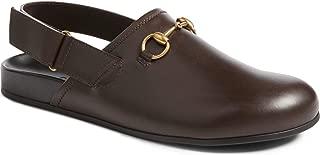 Men's River Horsebit Leather Slippers, Cocoa (Brown)