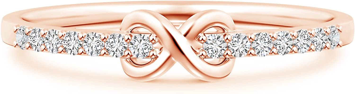 Manufacturer OFFicial shop Round Lab Created Diamond Infinity Promise S Ring in 14k For A surprise price is realized Her