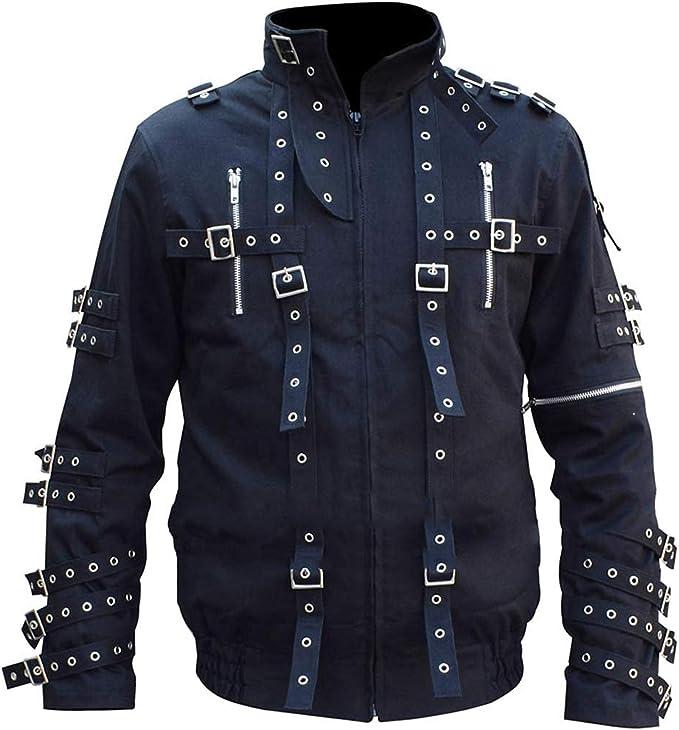 EU Fashions MJ Bad Concert Tour Chaqueta de algodón negro ...