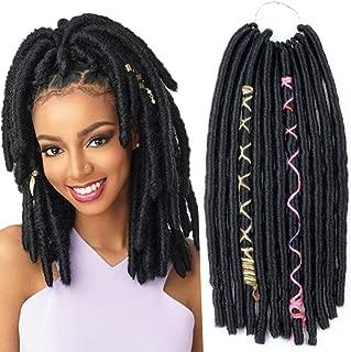 Crochet Goddess Locs Braids Natural Black Synthetic Faux Locs Crochet Braiding Hair Extensions African Hairstyles Soft Dread Dreadlocks (1#, 12