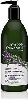 Avalon Organics Hand & Body Lotion, Nourishing Lavender, 12 Oz