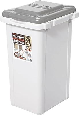 サンコープラスチック 日本製 ジョイント式 ゴミ箱 ビスダボ 27L ライトグレー