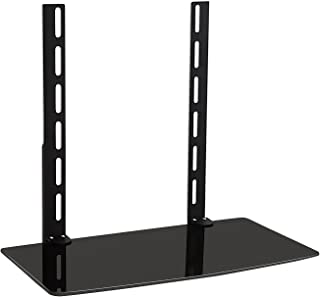 Mount-It TV Wall Mount Shelf Bracket Under TV for Cable Box, DVD Player, Stereo AV Components Shelf,Black