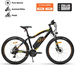 Peggy 27.5inch Electric Mountain Bike, 48V400W Motor E-Bike, Urban Electric Bikes for Adults, with 13Ah Removable Lithium Battery, 7-Speed Gear